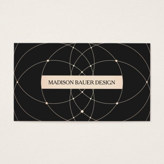 Vintage Chic Black and Gold Wire Pattern Business Card