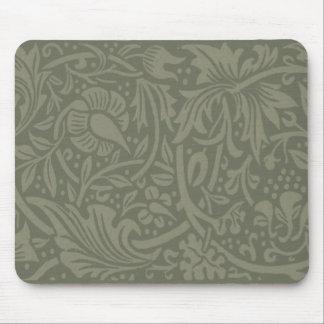 Vintage chic daffodil art nouveau design mouse pad