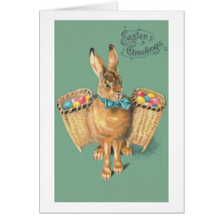 Vintage  Chic Easter Bunny Card