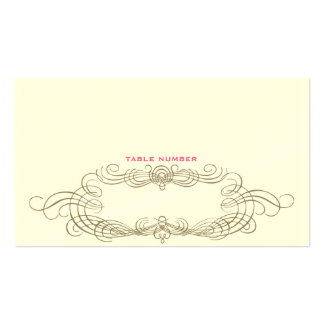 Vintage Chic Escort Card 1 Double-Sided Standard Business Cards (Pack Of 100)