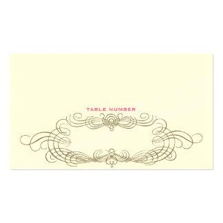 Vintage Chic Escort Card 1 Business Card