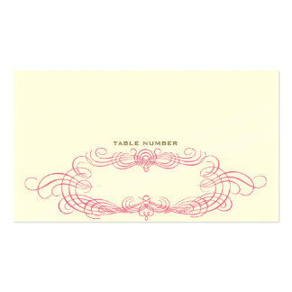 Vintage Chic Escort Card 2 Double-Sided Standard Business Cards (Pack Of 100)