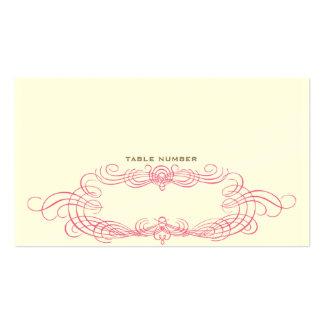 Vintage Chic Escort Card 2 Business Cards