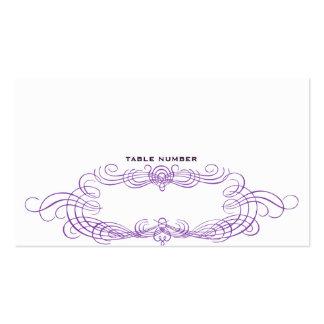 Vintage Chic Escort Card Dark purple Business Card Templates