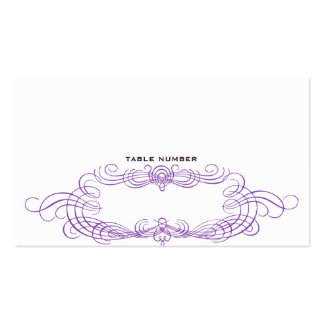 Vintage Chic Escort Card Dark purple Pack Of Standard Business Cards