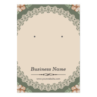 Vintage Chic Floral Earring Cards Pack Of Chubby Business Cards