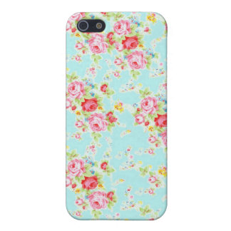Vintage chic floral roses blue shabby rose flowers iPhone 5/5S covers