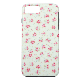 Vintage chic floral roses pink shabby rose flowers iPhone 7 plus case