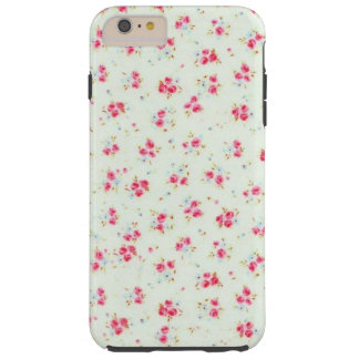 Vintage chic floral roses pink shabby rose flowers tough iPhone 6 plus case