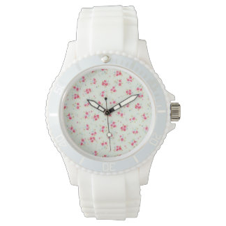 Vintage chic floral roses pink shabby rose flowers watch