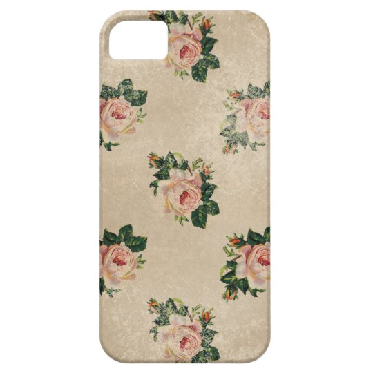 Vintage chic floral roses shabby boho rose flowers barely there iPhone 5 case