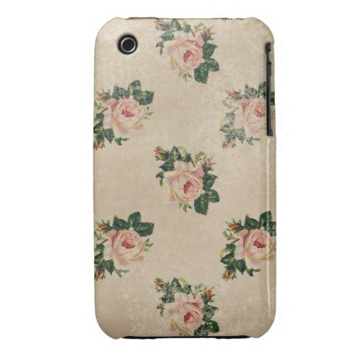 Vintage chic floral roses shabby boho rose flowers iPhone 3 covers