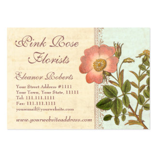Vintage Chic French Country Pink Rose Business Card
