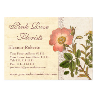Vintage Chic French Country Pink Rose Business Card Templates