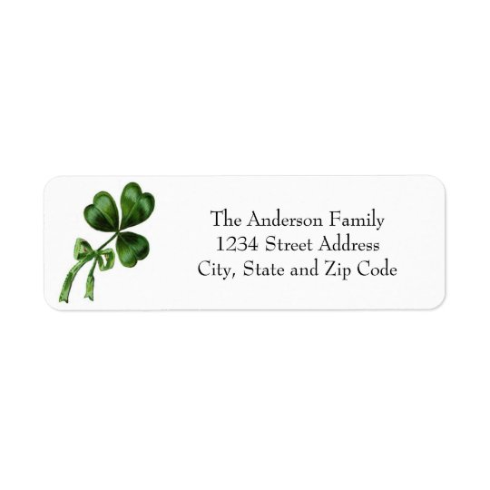 Vintage Chic Green Shamrock