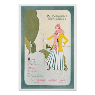 Vintage Chic Lady Advertisement Art Print Poster