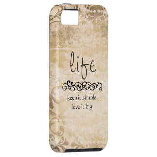 Vintage Chic Life Quote Iphone 5 Case