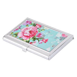 Vintage Chic Pink Floral Business Card Holders