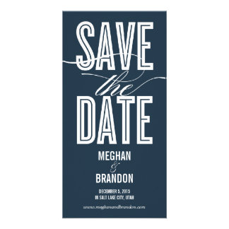 Vintage Chic Save The Date Photo Cards Picture Card