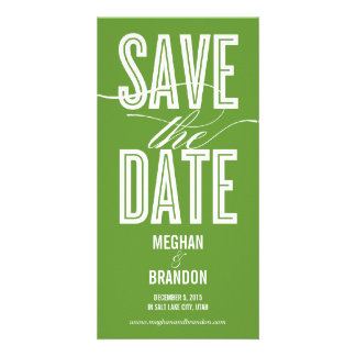 Vintage Chic Save The Date Photo Cards Personalized Photo Card