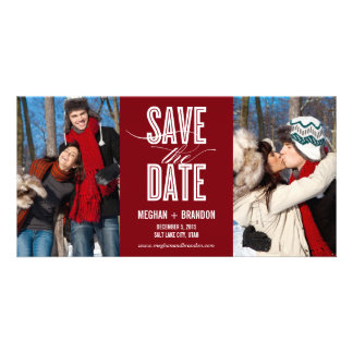 Vintage Chic Save The Date Photo Cards Photo Greeting Card