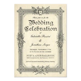 Vintage Chic Wedding Invitations 1 A