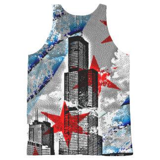 Vintage Chicago Flag Skyline Tower All-Over Print Tank Top