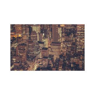 Vintage Chicago Illinois City Skyline Canvas Print