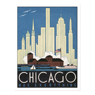 Vintage Chicago Illinois USA Postcard