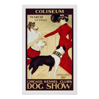 Vintage Chicago Kennel Club Show Poster