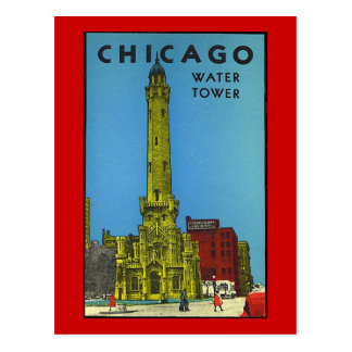 Vintage Chicago Water Tower Post Cards