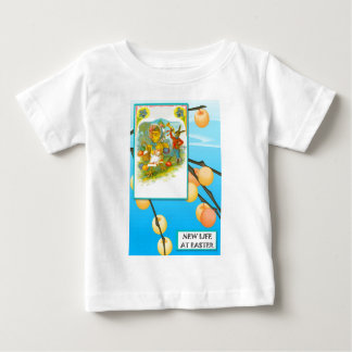 Vintage chick and rabbit baby T-Shirt