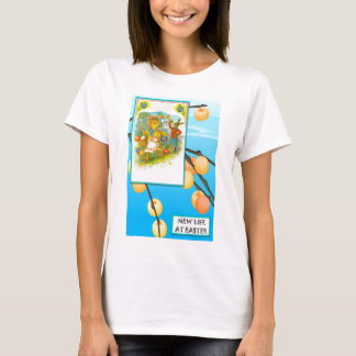 Vintage chick and rabbit T-Shirt
