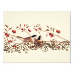 Vintage Chickadees Wedding Response Cards Personalised Announcements