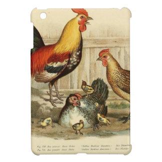 Vintage Chicken family illustration iPad Mini Cases