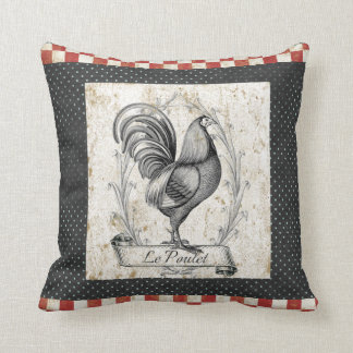 Vintage Chicken Le Poulet Cushion