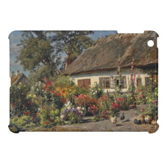Vintage Chickens and Hollyhocks Cover For The iPad Mini