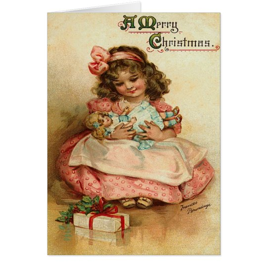 Vintage Child Christmas Card