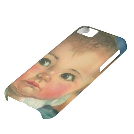 Vintage Child, Cute Baby Boy or Girl in Highchair iPhone 5C Cases
