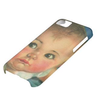 Vintage Child, Cute Baby Boy or Girl in Highchair iPhone 5C Case