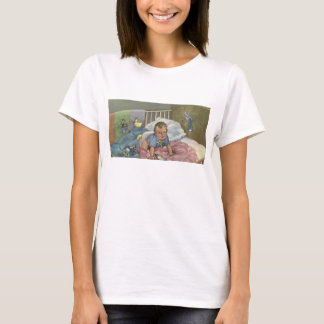 Vintage Child, Cute Baby Playing in Crib, Nap Time T-Shirt