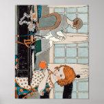 Vintage Child Girl Valentine for Mother Print