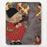 Vintage Child Harlequin, Playing Music on a Banjo Mousepad