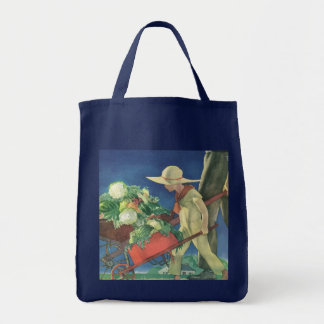 Vintage Child, Organic Gardening; Victory Garden Grocery Tote Bag