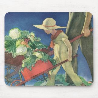 Vintage Child, Organic Gardening; Victory Garden Mousepads