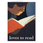 Vintage Child Reading a Book, Back to School Time! Greeting Cards