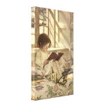 Vintage Child Reading a Book, Jessie Willcox Smith Canvas Print