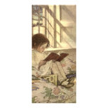 Vintage Child Reading a Book, Jessie Willcox Smith Custom Rack Cards