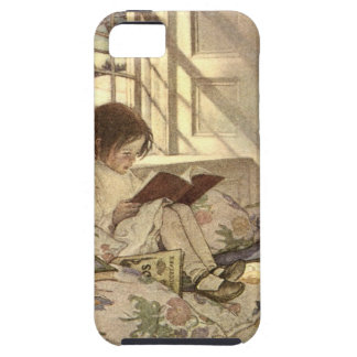 Vintage Child Reading a Book, Jessie Willcox Smith iPhone 5 Cases