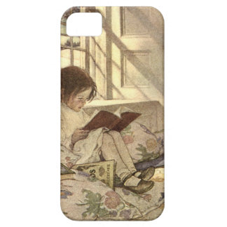 Vintage Child Reading a Book, Jessie Willcox Smith iPhone 5 Covers